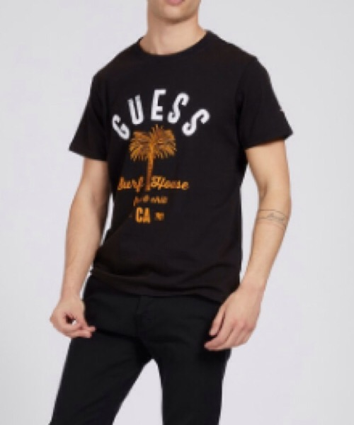 T-SHIRT STAMPA EFFETTO MALTINTO Guess